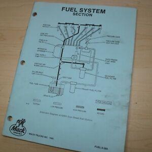 MACK TRUCKS FUEL SYSTEM SECTION Repair Shop Service Manual book overhaul engine