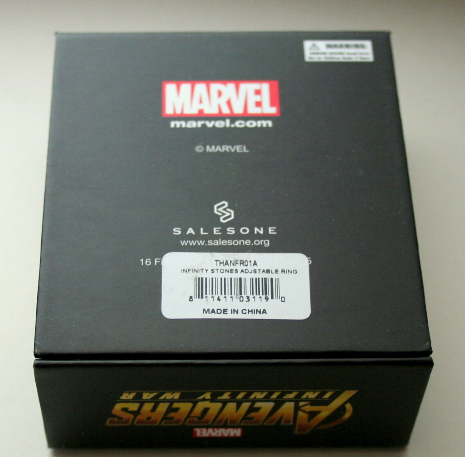 Marvel Comics Avengers Infinity War Thanos Stones 6 Ring Set New NOS Box Women/'s