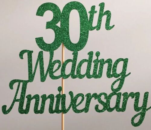 30th Wedding Anniversary Cake Topper 10 20 30 40 50 60 70 80 Years Wedding