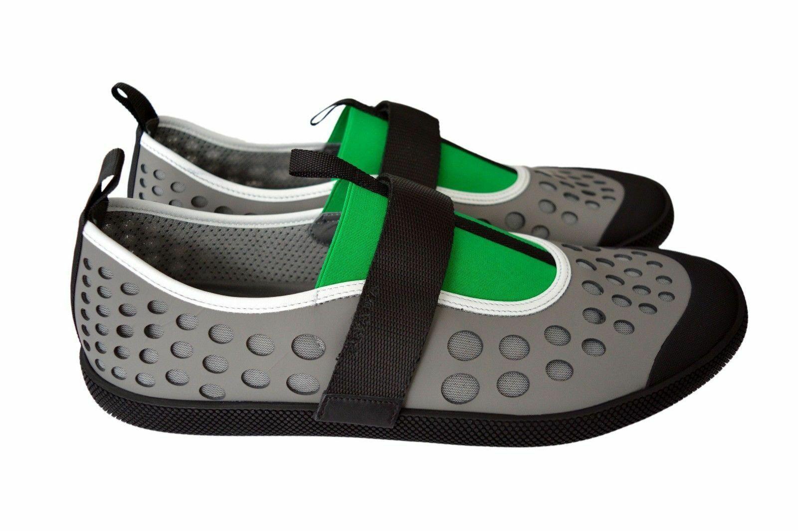 New Authentic PRADA Leather Mens Sneakers Shoes Schuhe Sz US12 EU45 UK11 2OG042