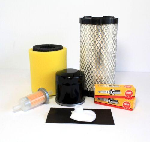 Tune-Up Kit Air Oil Fuel Filter Spark Plug 09-10 Kawasaki Mule 4000 // 4010