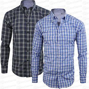 Camisa-De-Algodon-Hombre-Clasica-Cuadros-Manga-Larga-Con-Botones-GIROGAMA-2249CL