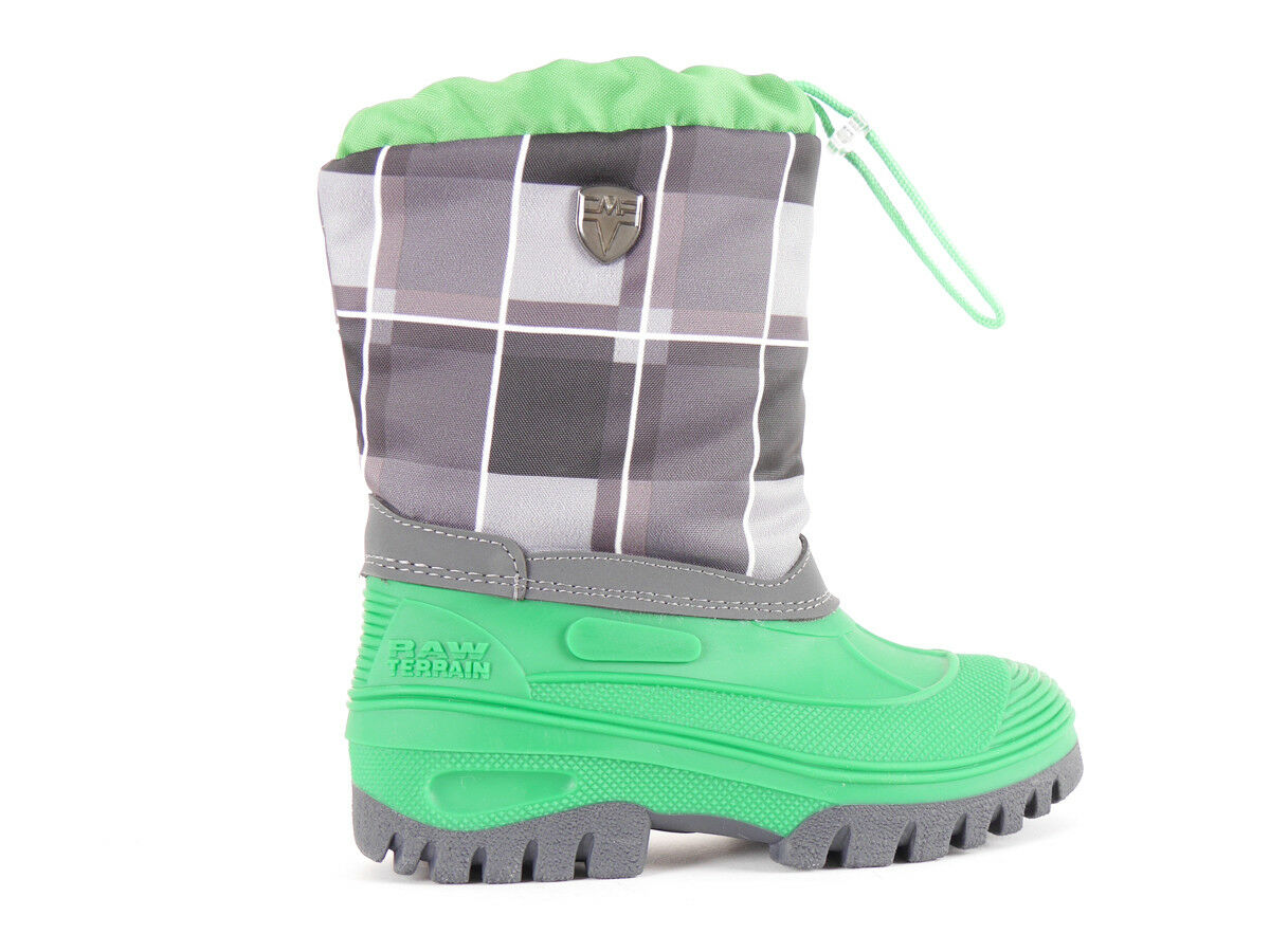 CMP Snow Boots Snowboots Winter Boots tykky Green Water Resistant Chequered