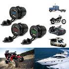 12V DC Motorcycle Car 3.1A Dual USB LED Charger Socket & Voltage Voltmeter Panel