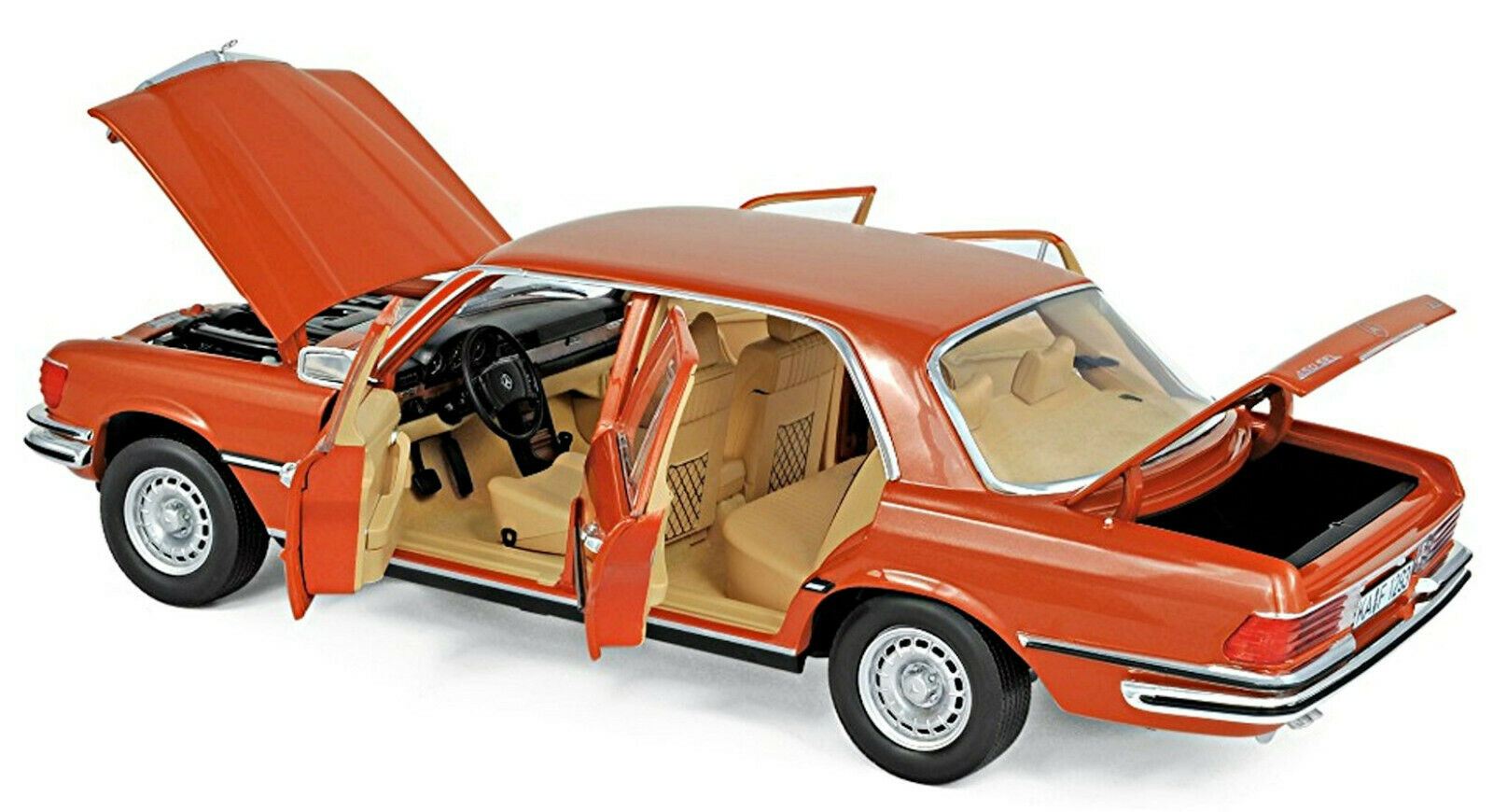 Mercedes-Benz Classe S 450 SEL 6.9 w116 - 1976 Inca Orange Metallic 1 18 Norev
