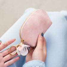 Women Leather Small Mini Wallet Card Key Holder Zip Coin Purse Clutch Bag us