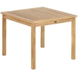 Tl 8133 Gartentisch Terrasse Tisch Balkon Teak Holz Feststehend 70 X