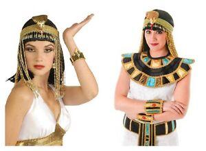 EGYPTIAN-BEADED-ASP-HEADPIECE-COLLAR-CUFF-BELT-WIG-CLEOPATRA-ROMAN-FANCY-DRESS