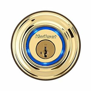 Brass-Kwikset-Kevo-Smart-Deadbolt-Door-Lock-Keyless-Bluetooth-Digital-Touch-iOS