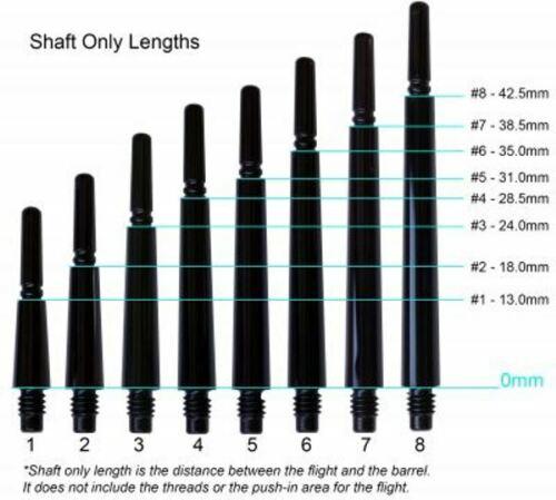 Fit Flight Carbon Hybrid Spinning Dart Shafts White