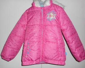6d7893278be2 Disney Frozen Winter Puffer Jacket Anna Elsa Faux Fur Toddler Girls ...
