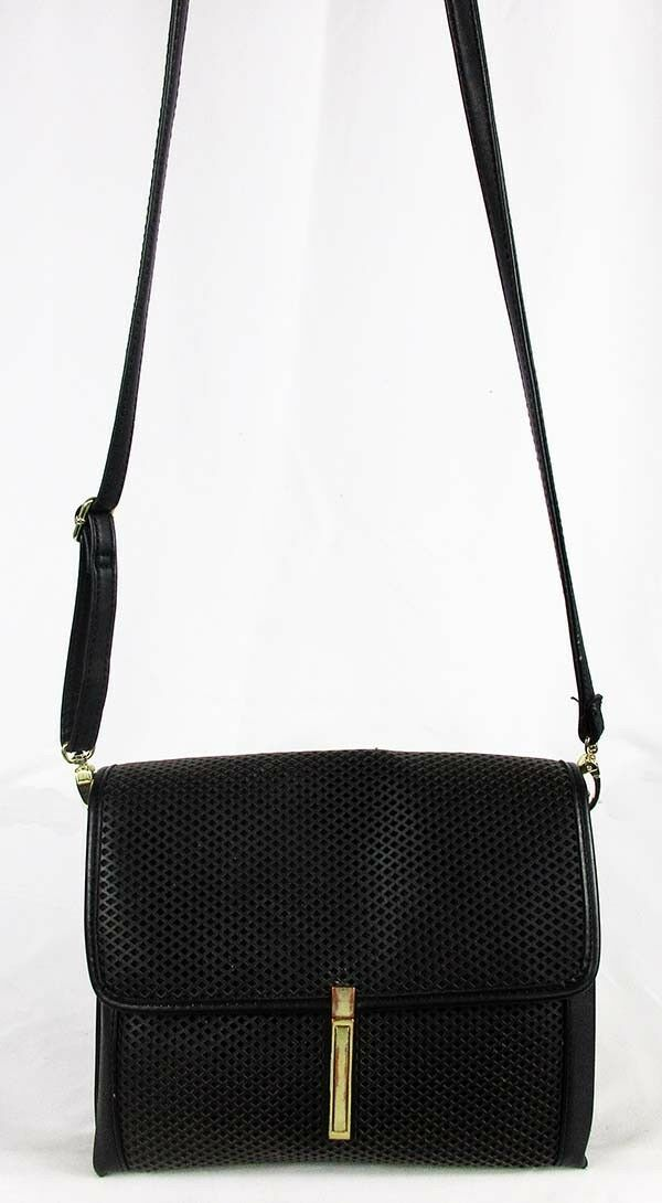 MOSSIMO Black Faux Leather Cross body Bag