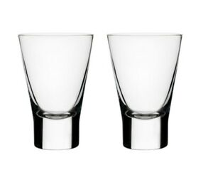 Iittala Glass Aarne Cordial Clear Shot Sundower 5cl 2pc Set By Goran Hongell 6411929500146 Ebay
