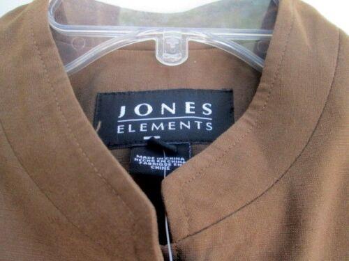 new Elements Blazer silk 10 Jacket Jones sz 199 brown light Linen P4T0qwgH