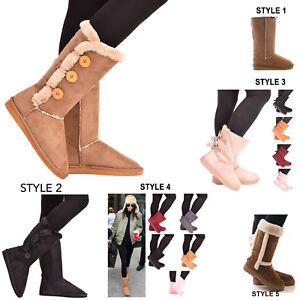 Ladies-Womens-Winter-Boots-Snow-Fur-Warm-Comfy-Casual-Fashion-Mid-Calf-Shoe-Size