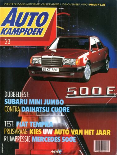 DAIHATSU CUORE 1990 AUTOKAMPIOEN MAGAZIN 23 SUBARU MINI JUMBO FIAT TEMPRA TEST
