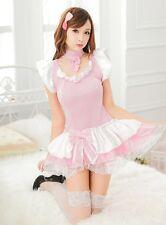 Ballet Rosa Japonés Disfraz De Mucama Francesa Traje De Camarera De Fiesta uniforme, 8-14