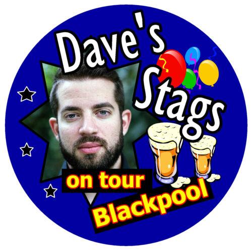 10 x stag night on tour personnalisé-big badges avec photo//place//nom-neuf