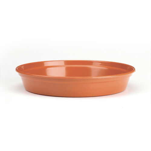 "10 x plant pot saucers fits pot size 7-8/"" 17.5-20cm terracotta colour plastic"