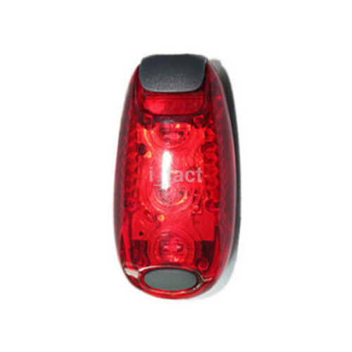 Mini LED Light Up Safety Clip on Running Jogging Night Bike Bicycle Rear Lights