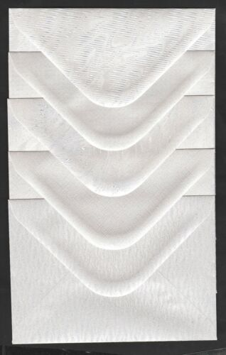 "50  C6  PEARL WHITE SHIMMER ENVELOPES TEXTURED   120gsm  114 x 162mm  4.4x 6.3/"""