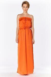 GAUDI-Maxikleid-Damen-traegerlos-Damenkleid-orange-Kleid-neuwertig-Neu-99