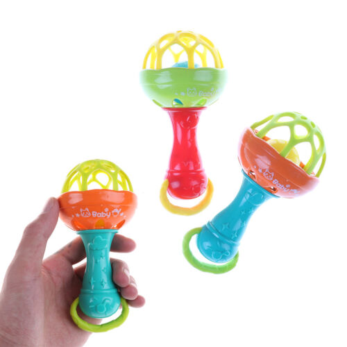 Baby Intelligence Plastic Hand Bell Rattle Funny Educational Toy Xmas  Gifts  YJ