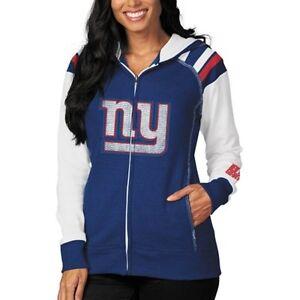 fdc81c94 New York Giants WOMENS Sweatshirt Zip Up Hoodie Deep Post by ...