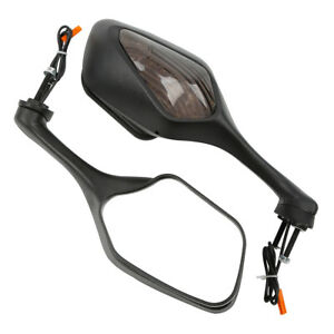 Black-Rear-View-Mirrors-Turn-Signal-LED-Fit-For-Honda-CBR1000-RR-CBR1000RR-08-12