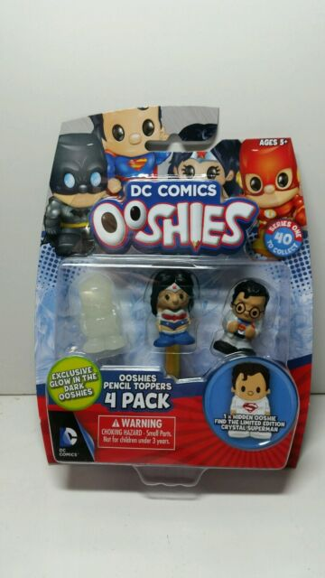 Dc Comics - Ooshies 4 Pack figures Pencil toppers - box 4 with glow in the dark