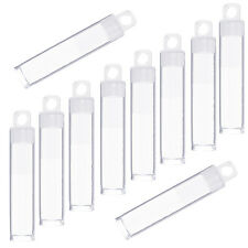 60mm Clear Plastic Hangable Tubes Seed Bead Container Storage Pack of 10 (G61/2)