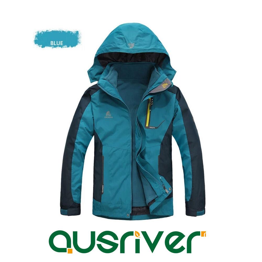 Premium Man Outdoor Waterproof Sports Warm Skiwear Hooded Climbling Jacket Coat