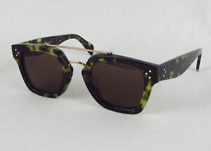 596f85b2710c Celine CL 41077 S Bridge Sunglasses Green Havana Tortoise Square ...