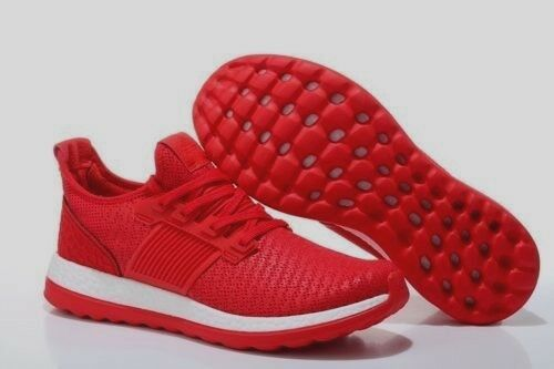 Adidas Men's Size 12 PureBoost ZG Running Shoes Red White BA8453 NIB!!