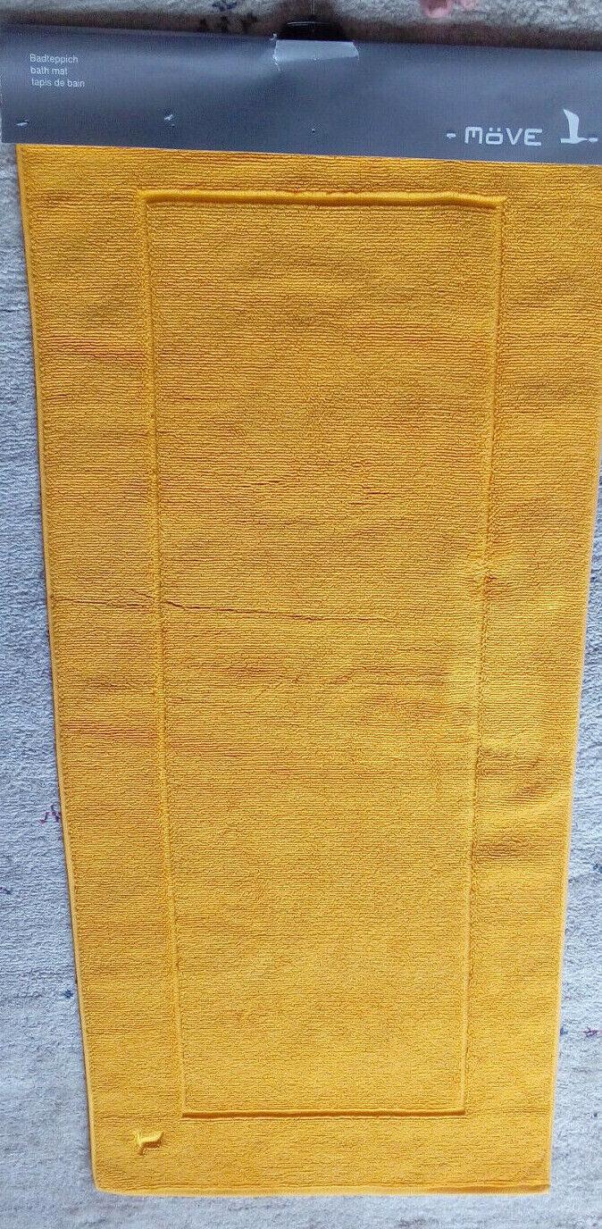 MÖVE Badteppich sonnengelb- XXL - 130 cm x 60 cm - NEU