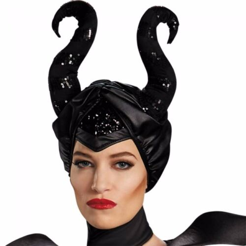 Maleficent Costume Dress Disney Deluxe Adult Fancy Christening Black Glam Gown