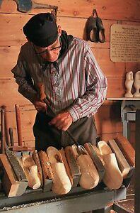 Details About Wooden Shoe Carver At Dutch Village Holland Michigan Clogs Maker Postcard