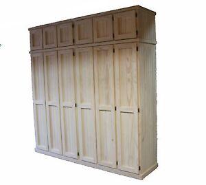 Robert Solid Pine Timber WardrobeWall Unit Bedroom