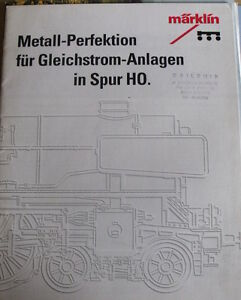 Catalogo Marklin Metall Perfektion  in scala H0 - 1993 - DEU - Tr.3