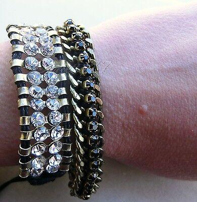 P bracciali con strass, intrecciati cordino friendship bracelet