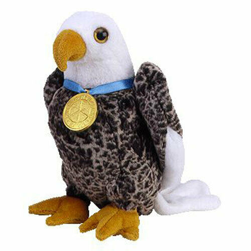 10 inch TY Beanie Buddy - MWMTs Stuffed Animal Toy BALDY the Eagle