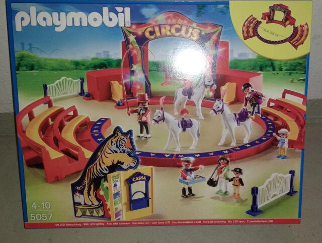 Große Zirkus-Arena mit LED-Beleuchtung neu und OVP Playmobil 5057