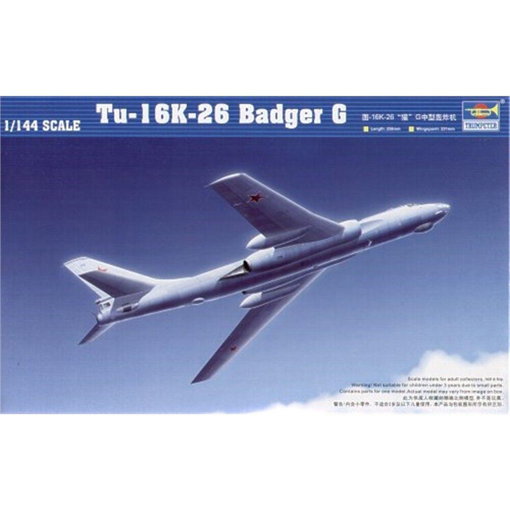 Trumpeter 1 144 - Tupolevtu-16k Badger G - Tu16k26 Kit 1144 Tr03907 Model