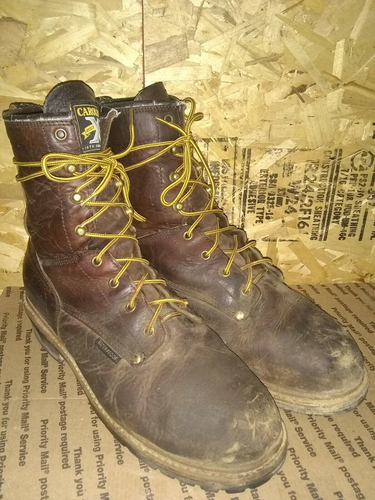 Carolina Logger Boots CA5823 400 Gram Insulated Waterproof Steel Toe Mens 12EE