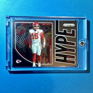 Patrick-Mahomes-PANINI-PRIZM-HOT-HYPE-INSERT-CHIEFS-CARD-2019-H-PM-Mint