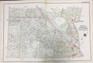 Details about 1905 ROSLINDALE PLAY GROUND BOSTON MA FALLON FIELD LONGFELLOW  SCHOOL ATLAS MAP