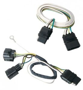 trailer tail light connector jeep wrangler tj 05 06 tow hitch brake wiring plug ebay. Black Bedroom Furniture Sets. Home Design Ideas