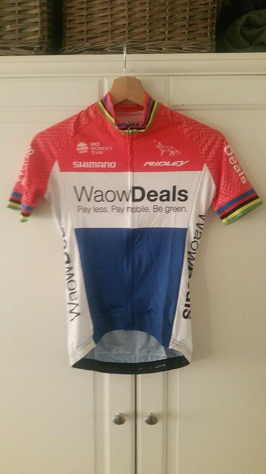 Zeitfahranzug Waowdeals MARIANNE VOS radtrikot skinsuit cycling xxs Champion