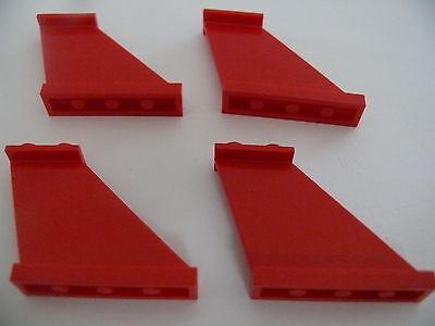 Lego 4 queues d avion rouges set 6615 4002 6939 6529 4 red tails
