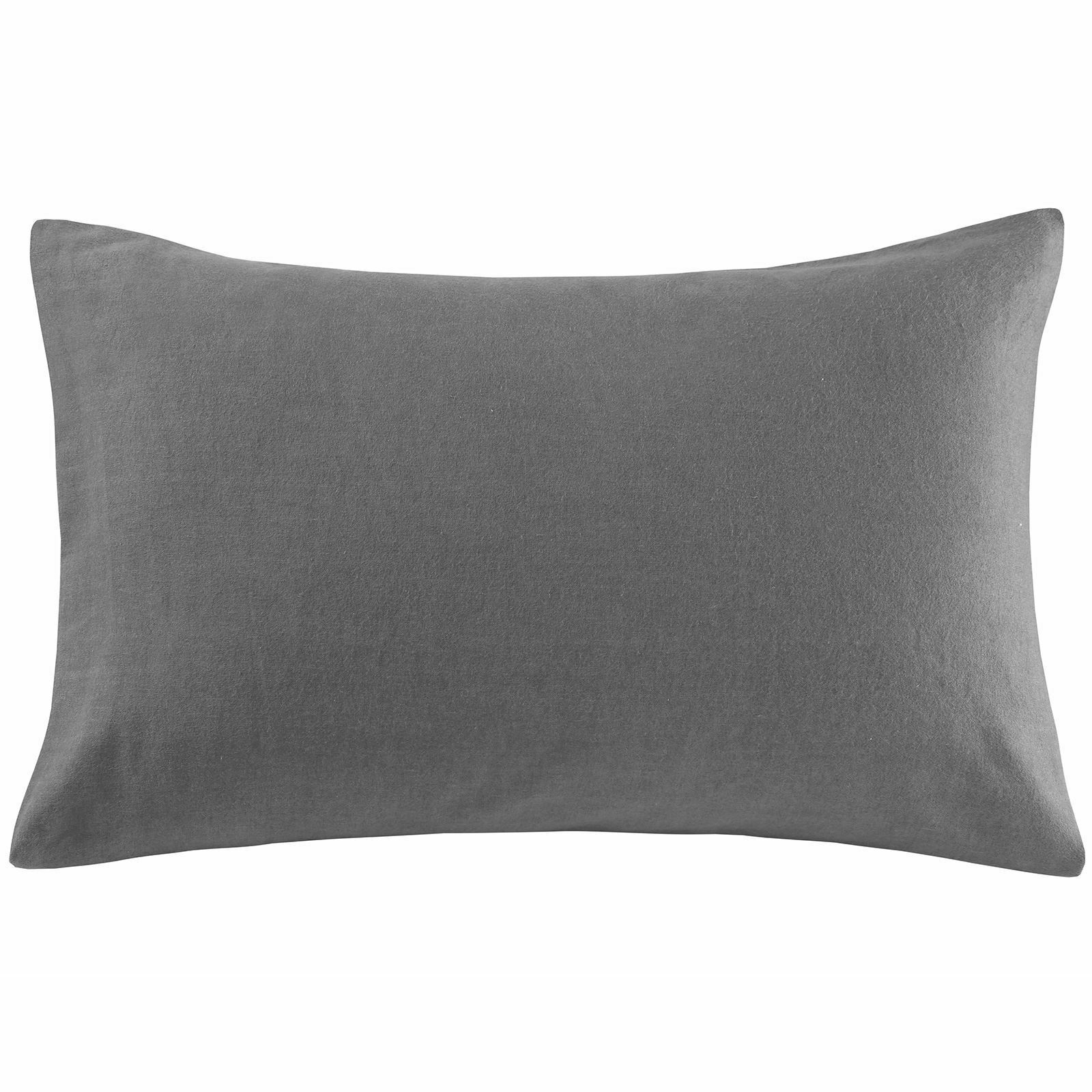 100/% Brushed Cotton Flannel Housewife /& Oxford Pillowcases Thermal Pillow Covers